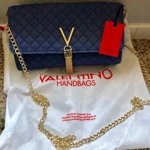 Valentino Summer Diva Crossbody Denim w/ goldchain